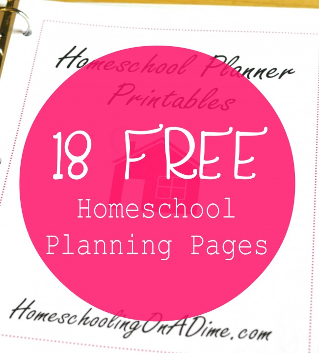 18 Free Homeschool Planning Pages