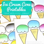 Free Ice Cream Cone Printables & Activities