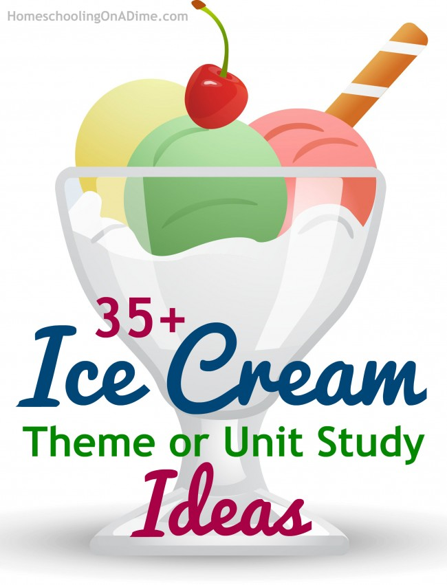 Ice Cream Unit Study ideas