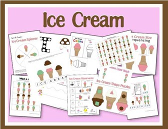 unit study theme i scream you scream we all scream for ice cream. Black Bedroom Furniture Sets. Home Design Ideas
