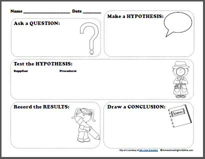 Printables Scientific Method Elementary Worksheet free scientific method printable worksheet for kids
