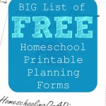 Tons of FREE Printable Homeschool Planners & Forms