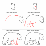 How to Draw a Bear in Five Easy Steps (FREE Printable) + Tons of How to Draw Animal Tutorials