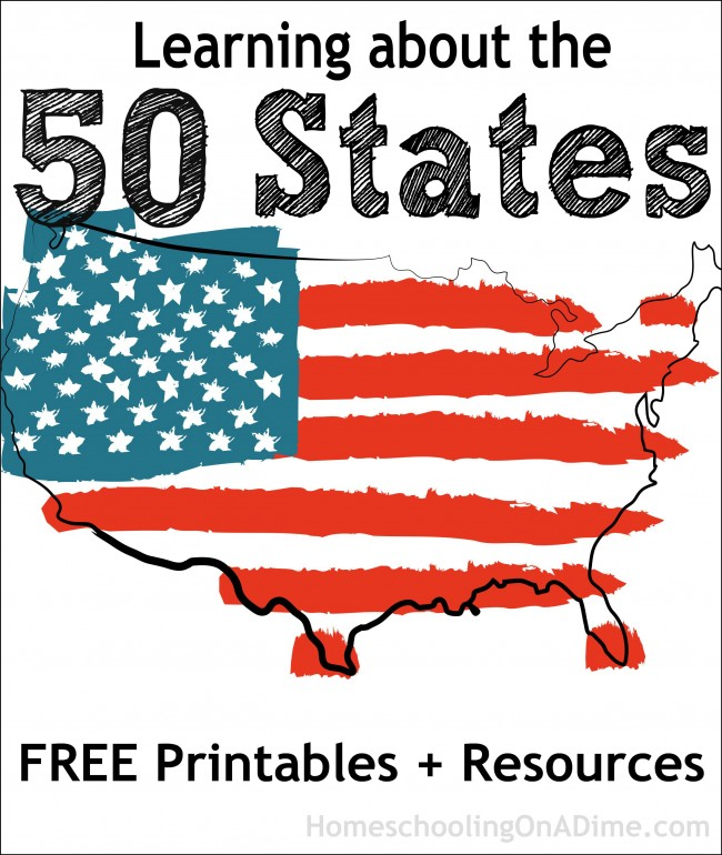 Learning about the 50 States - Free Printables and Resources