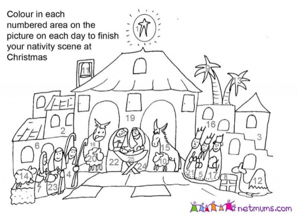 NetMums advent coloring pages