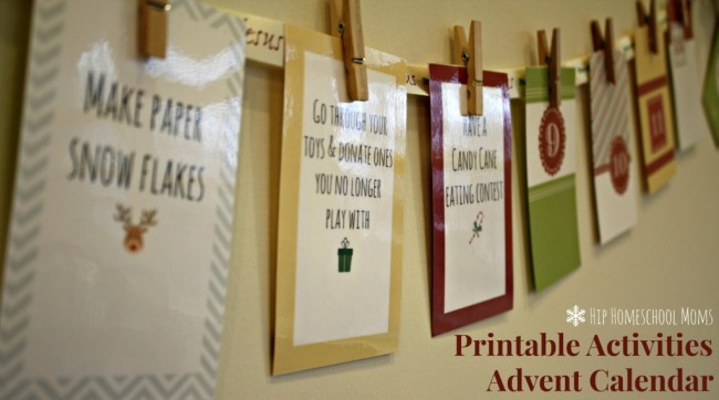 advent calendar from hip homeschool moms