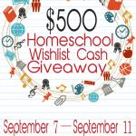 $500 Homeschool Wishlist Giveaway