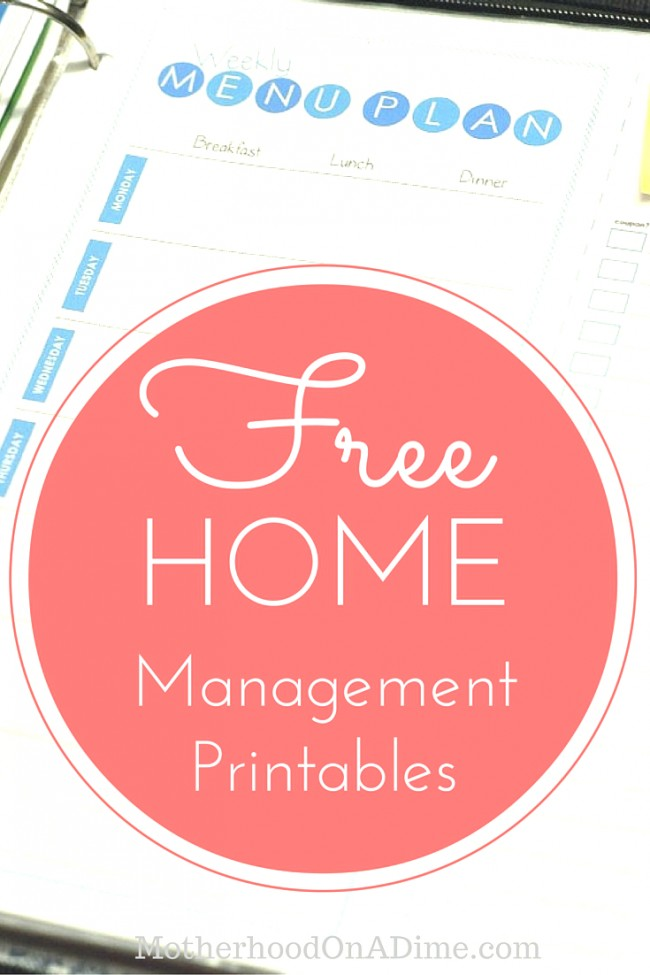 Download free home management printables for 2016!