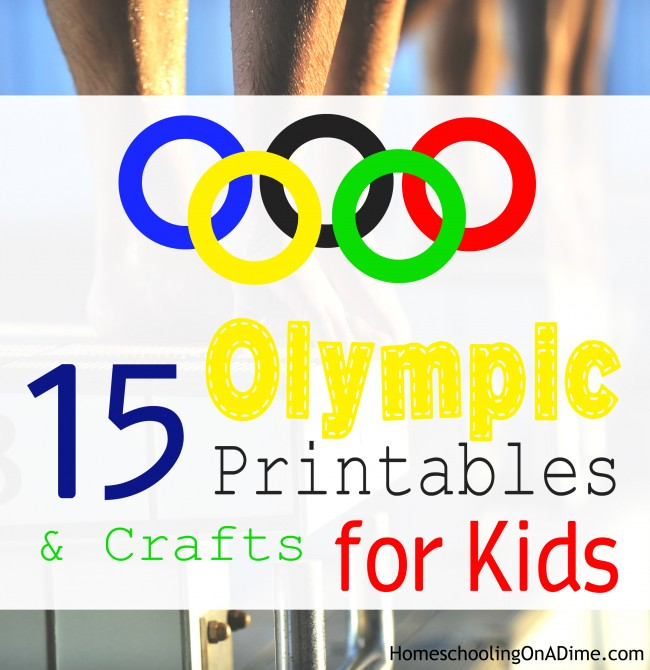 15 FREE Olympic Printables and Easy Crafts for Kids