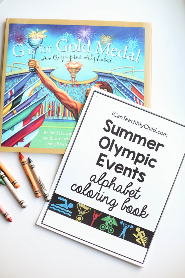 Olympic Events Alphabet Coloring Book
