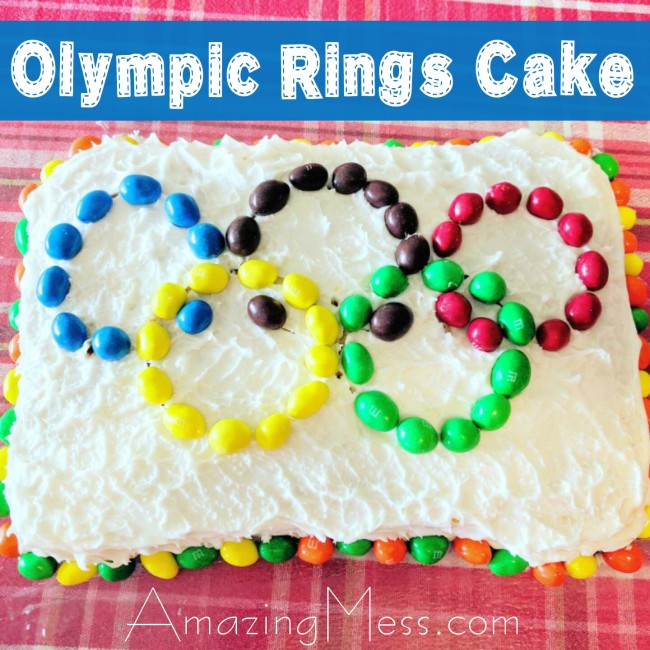 Simple Olympic Rings Cake for an Olympic Theme
