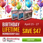 Final Time: Notebooking Pages LIFETIME Memberships for Just $50 (reg. $97, Ends 4/27)